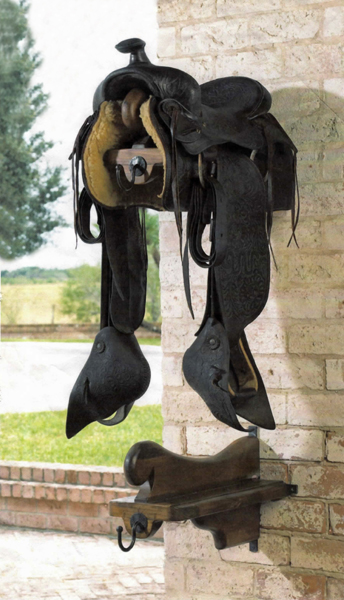 saddle rack with saddle